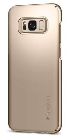 Spigen Thin Fit Galaxy S8 Case with Premium Matte Finish Coating and QNMP Compat #Spigen