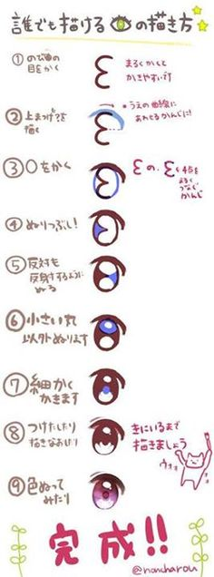 how to draw an anime eye in easy steps