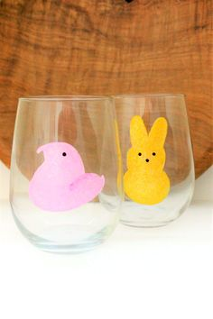 This is a bit halloweeny by marlene on etsy etsy treasuries hand painted wine glasses peep wine glass easter bunny peeps easter wine glass easter peeps spring wine glass wine gift negle Images