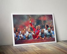 US women's soccer United States Print Poster by TroutLifeStudio