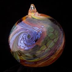 Contemporary Glass Sculpture by Kelly Howard I have 3 of hr pieces. Studio in lincoln city oregon Christmas Ornaments To Make, Christmas Bulbs, Lincoln City Oregon, Glass Floats, Oregon Coast, Blown Glass, Glass Ornaments, Pacific Northwest, Beautiful Beaches
