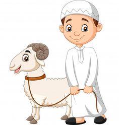 Cartoon Islam Vector Images (over - Page 4 Eid Boxes, Eid Al Adha Greetings, Happy Eid Al Adha, Eid Crafts, Ramadan Crafts, Eid Stickers, Islamic Cartoon, Anime Muslim, Cartoon Boy