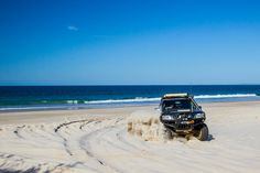 4.8L Nissan Patrol ripping it up the beach at Bribie Island, QLD. 'MY RIG' beach 4wding. Nissan Patrol TB 4.8L 2005 STS Y61 4x4 4WD. #myrigadventures #4wdaction Check out the website for more pics @ www.myrigadventures.com