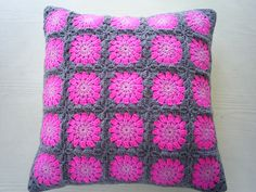 the pinkie grey cushion cover by riavandermeulen, via Flickr. in purple for Maddie's room