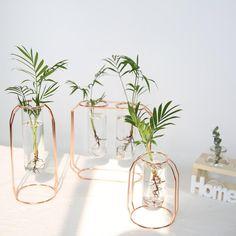 Hydroponique Plante Vase Terrarium Récipient Home Decor verre tube à essai pot de fleur
