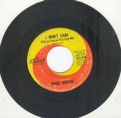 BUCK OWENS 45 rpm I Don't Care