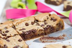 whole grain cookie dough bars. **try with 1/2c applesauce or coconut oil instead of canola oil.