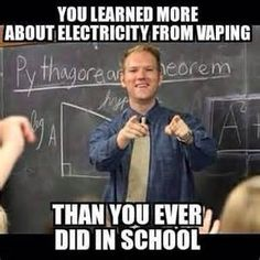 Vaping, learning, school - they all go together!