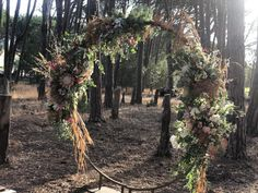 Beautiful wedding ceremony arch by Blomlief Forest Wedding Venue, Wedding Ceremony Arch, Wedding Venues, Reception, Mountain View, Beautiful, Wedding Reception Venues, Wedding Places, Receptions