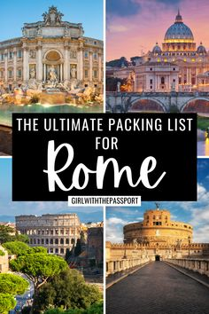 Not sure what to pack for your next trip to Rome, Italy? Then check out this ultimate packing list for Rome, filled with all the essential packing tips and tricks that you'll need to help you create Rome outfits that are perfect for every season. Rome Packing List | What to Wear in Rome | Rome Outfits | Rome Aesthetic | Rome Travel Guide | Rome Travel Tips || Italy Travel | Europe Travel | Rome Packing Guide #RomeOutfits #RomeTravel #RomeGuide #VisitRome #PackingGuide Italy Travel Tips, Rome Travel, Europe Travel Guide, Travel Guides, Travel Destinations, Packing Tips, Packing Checklist, Travel Packing, Things To Do In Italy
