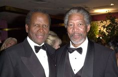 Morgan Freeman & Sydney Poitier