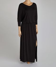 Another great find on #zulily! Black Dolman Maxi Dress - Plus #zulilyfinds