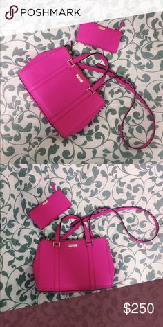 Kate Spade pink purse + wallet BRAND NEW Kate Spade purse with matching wallet! Never used kate spade Bags