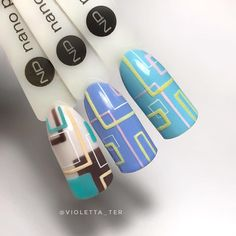 """Дизайны из курса """"ГЕОМЕТРИЯ"""". #ногти #nails #nailart"""