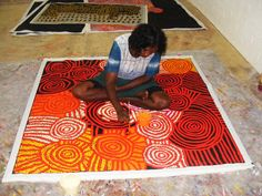 Australian Aboriginal Art Painting by Debra Young Nakamarra 'Rock Holes' 150 x 148 cm. Aboriginal Symbols, Aboriginal Dot Painting, Aboriginal Artists, Indigenous Australian Art, Indigenous Art, Slab Pottery, Pottery Clay, Pottery Studio, Ceramic Art