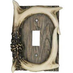 Deer Antler Light Switch Cover