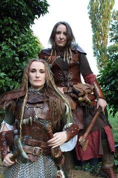 Fierce shield maidens.
