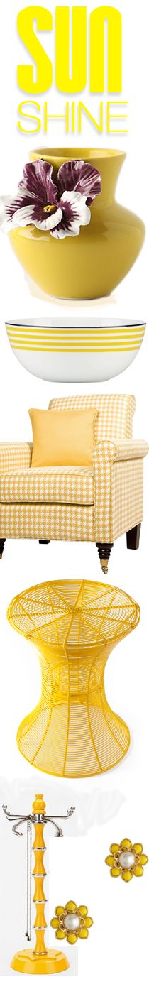 "Don't miss our fun yellow home decor ideas at www.CreativeHomeDecorations.com. Use code ""Pin70"" for additional 10% off!"