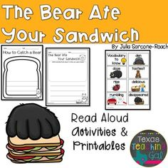The Bear Ate Your Sandwich Read Aloud Printables Activities-Read for the Record