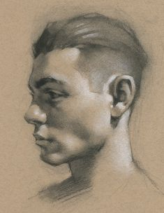 Steps for Portrait Drawing with Charcoal - Drawing On Demand Charcoal Portraits, Charcoal Art, Charcoal Sketch, Charcoal Drawings, Face Drawing Reference, Human Figure Drawing, Portrait Sketches, Pencil Portrait Artist, Pastel Drawing