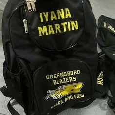 Backpack School Book Bag Sports Gym Cheer Soccer Recycled Team Blank Monogram