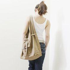 KINIES Starz in KHAKI  Stylish Hobo Bag / Single Strap by Kinies, $50.00