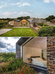 Key to the design of this extension is the way the new section of the home integrates with the old, and respects the original building materials. New Homes, Mansions, The Originals, British Architecture, House Styles, Building Materials, Outdoor Decor, Old Things, Design
