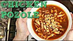 Easy Red Posole Recipe, Posole Recipe Chicken Red, Easy Chicken Recipes, Soup Recipes, Cooking Recipes, Dishes Recipes, How To Make Pozole, Tritip Recipes, Pozole Rojo