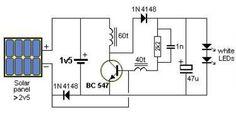 Solar Garden Light Circuit Diagram
