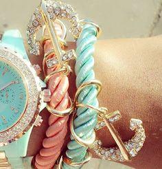 Glam Anchor Watch Set - GLAMCITYINC