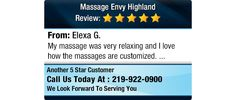 My massage was very relaxing and I love how the massages are customized.
