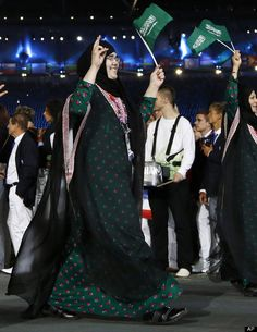 It lasted only 82 seconds, but it will be long remembered: Young judo fighter Wojdan Ali Seraj Abdulrahim Shahrkhani became the first Saudi woman to compete at an Olympics. Wearing a modified hijab, Shahrkhani drew roars from the crowd as she stepped on the mat against Puerto Rico's Melissa Mojica, who quickly defeated her.