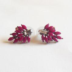 Boucles d'oreilles - Puces d'oreilles. ROSE . #bijoux #tendance #look #mode #earring #jewelry #femme #fashion #shopping www.milena-moda.com