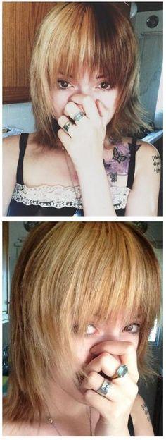 Leda Muir I'd do half blonde half dirty blonde, subtle yet striking