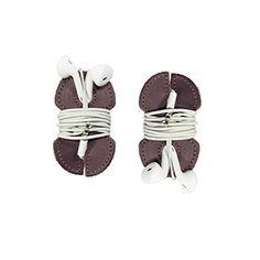 Leather Headphone Wrap 2-Pack Handmade by Hide & Drink :: Lavender