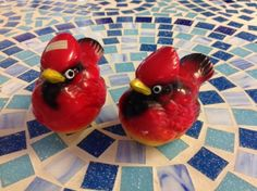 Vintage Salt And Pepper Shakers Red Cardinals Made In Japan