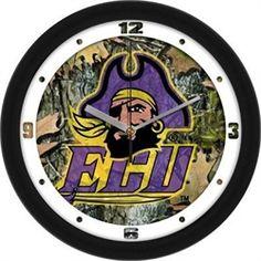 ECU East Carolina University Glass Wall Clock