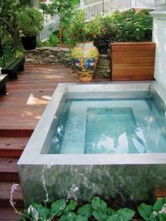 Elegant Small Pool Ideas For Backyard. Below are the Small Pool Ideas For Backyard. This article about Small Pool Ideas For Backyard was posted under the Outdoor category by our team at March 2019 at am. Hope you enjoy it and don& forget to . Small Inground Pool, Small Swimming Pools, Small Backyard Pools, Small Pools, Swimming Pool Designs, Backyard Patio, Small Backyards, Lap Pools, Indoor Pools