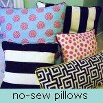 no sew pillows by hi sugarplum!, via Flickr