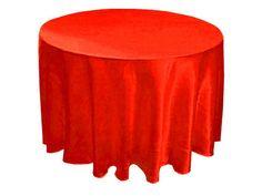 Mantel Satín Rojo. Elegante mantel de satín que le da un toque especial a su evento. Características: Elegancia, Estilo y Buen gusto.