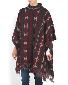 image of Made In Italy Aztec Poncho