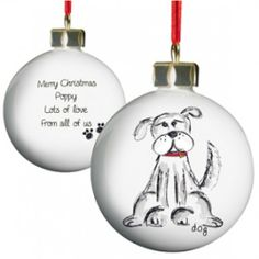 Personalised Dog Christmas Bauble  from Personalised Gifts Shop - ONLY £9.99