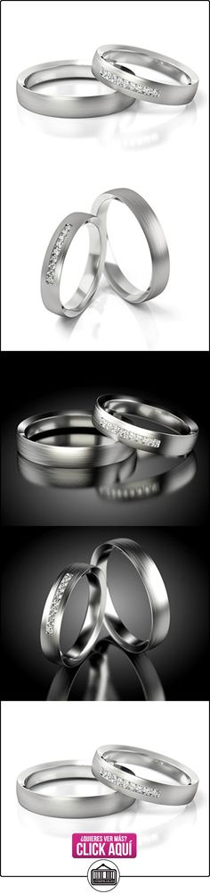 Anillos De Boda Oro Blanco 750_PD155_S-721_D  ✿ Joyas para hombres especiales - lujo ✿ ▬► Ver oferta: http://comprar.io/goto/B01DS976UG