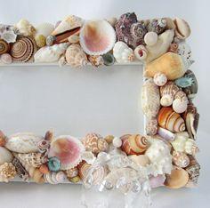 Beach Decor Seashell Frames Nautical by beachgrasscottage