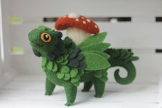Mushroom beast the needle felted creature fantasy by shyshyru