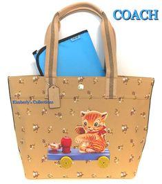 ea0c3307da19 COACH Kitty Bell Cat Fisher Price LTD Floral Multipurpose Tote or Diaper  Bag NWT