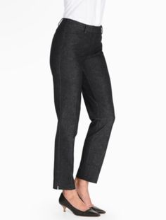 Talbots Hampshire Ankle Pant - Curvy/Refined Denim - Talbots