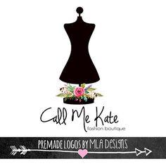 Moda Boutique maniquí vestido forma logotipos por MLAdesigns