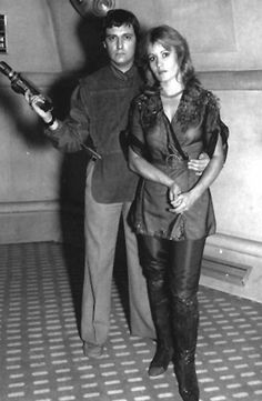 Avon and Jenna - full length, so good shot of trousers Sci Fi Shows, Tv Shows, Sally Knyvette, Best Sci Fi Series, Original Tv Series, The Originals Tv, Science Fiction Series, Tv Girls, Classic Sci Fi