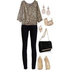 A fashion look from August 2012 featuring Vince blouses, AG Adriano Goldschmied jeans and Emilio Pucci clutches. Browse and shop related looks.